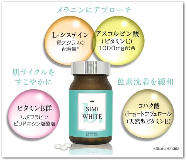 simiホワイト シーミーホワイト 口コミ ビーグレンファーマ シミを消す医薬品 simi white シミホワイト しーみーほわいと 効果 配合成分